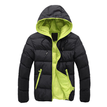 2016 Winter Jacket Men Hooded Thick Warm Parkas Male Down Jackets Teenager Slim Fit Windbreaker Plus Size XXXL 50
