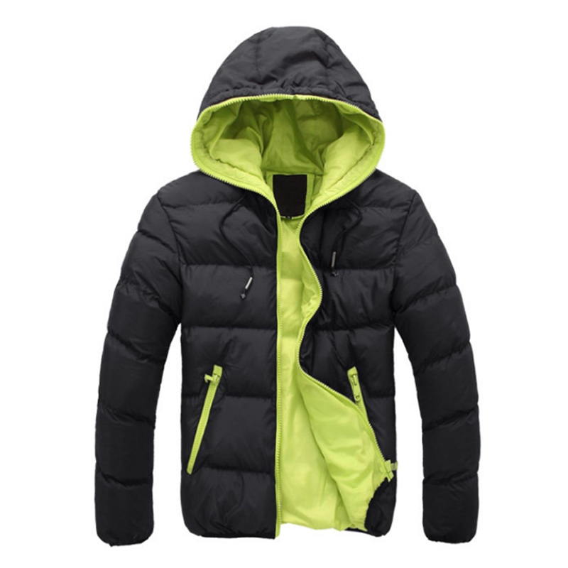 2019 Winter Jacket Men Hooded Thick Warm   Parkas   Male Down Jackets Teenager Slim Fit Windbreaker Plus Size XXXL 50