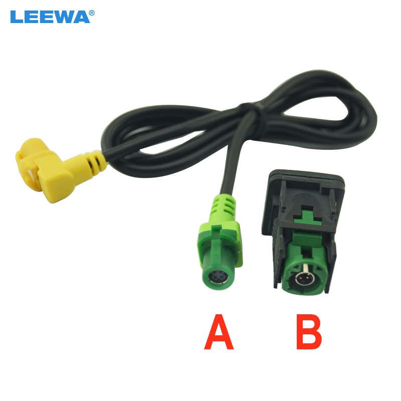 LEEWA For VW Golf 5/6 Scirocco Passat jetta mk6 USB Input USB Connector Surface + cable RCD510 5KD 035 726 A(China)