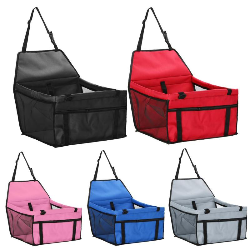 Waterproof Pet Dog Carrier Car Back Seat Pad Safe Carry House Cat Puppy  Dog Seat Bag Basket Pet Travel Protector Products
