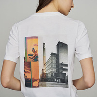 French M Country Short Sleeve T shirt with Back Printing on Spring and Summer 2009 Simple Letter T shirt in Stock