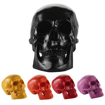 Resin Medical Human Skull Model Sculpture Small Figurines Statue Skeleton Art Sketch Ornaments Decor Halloween Gifts Скульптура
