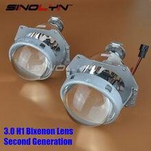 Second Generation 3.0 H1 HID Bi xenon Lens Projector lenses Headlights H1 H4 H7 LHD RHD Headlamp Car Styling Retrofit DIY