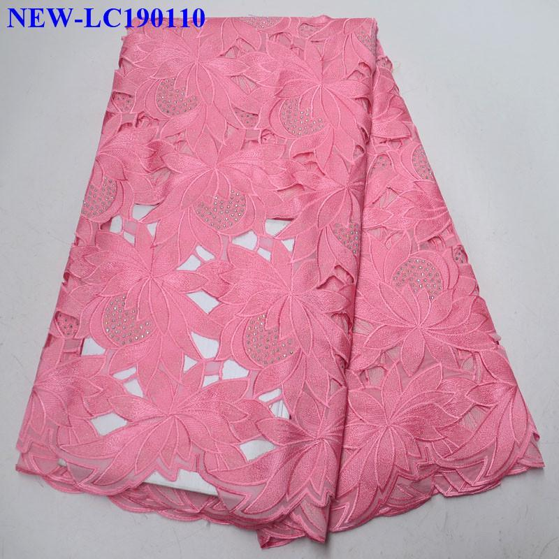 African Dry Lace Fabrics High Quality Cotton Lace Fabric Swiss Voile With Stones Swiss Voile Lace