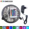 5M RGB Led Strip Light SMD 3528 Waterproof Flexible Light 5m/roll Diode Tape +EU/US DC 12V 2A Adapter+Controller led kit