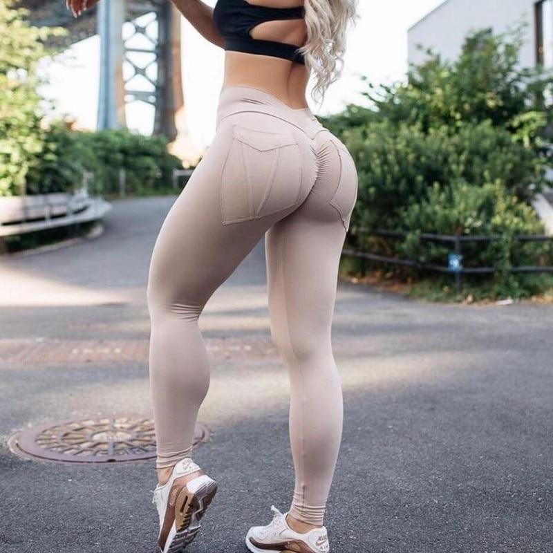 Leggings   fitness   Leggings   For Women Sporting Workout Leggins Elastic Slim Black gray coffee Pants High Elastic jogger Trousers