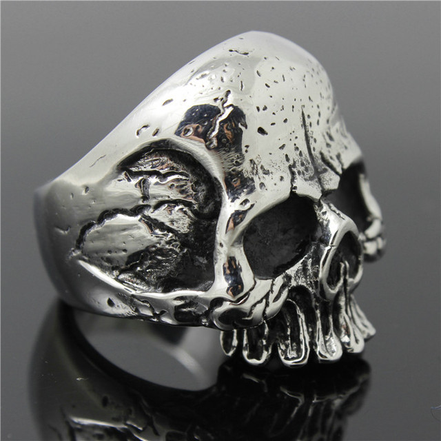 STAINLESS STEEL BIG SKULL RINGS