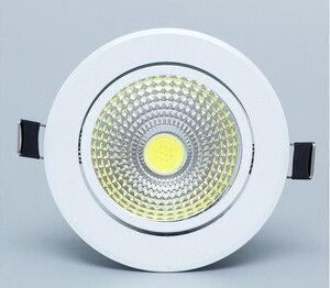Image 4 - ניתן לעמעום Led downlight אור COB תקרת ספוט אור 5W 7W 9W 12W 85 265V תקרה שקוע אורות מקורה תאורה