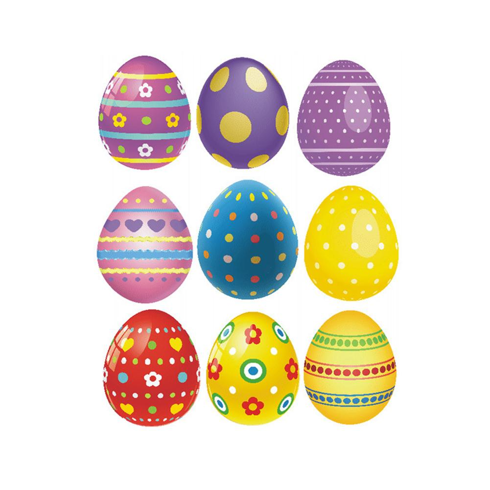 Egg Pattern Decal PVC Wall Stickers Glass Window Ornament Easter Decorations