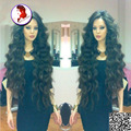Hot 150% superior de seda pelucas llenas del cordón/pelucas delanteras del cordón para blanco mujeres onda del cuerpo base de seda brasileño peluca de pelo humano con el bebé pelo