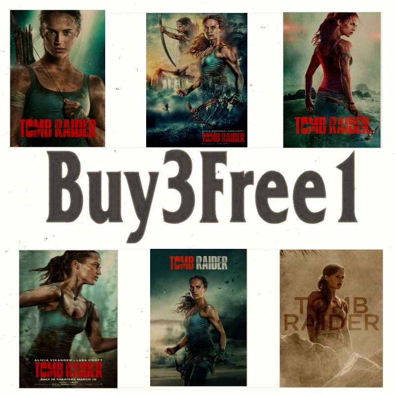 (Home & Garden) (Home Decor)(Home Decoration Stickers & Posters) poster(Wall Stickers<Tomb Raider>