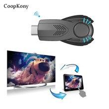 CoopKony wi-fi Inteligente Ezcast Miracast Dongle DLNA Airplay Espelho OP Áudio do Receptor de Vídeo Para IOS Android SISTEMA OPERACIONAL Windows Iphonex P10