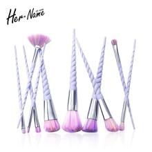 Hername 10Pc unicorn eyebrow eyeshadow foundation makeup brushes Kit brush make up set cosmetics pincel maquiagem de pinceis