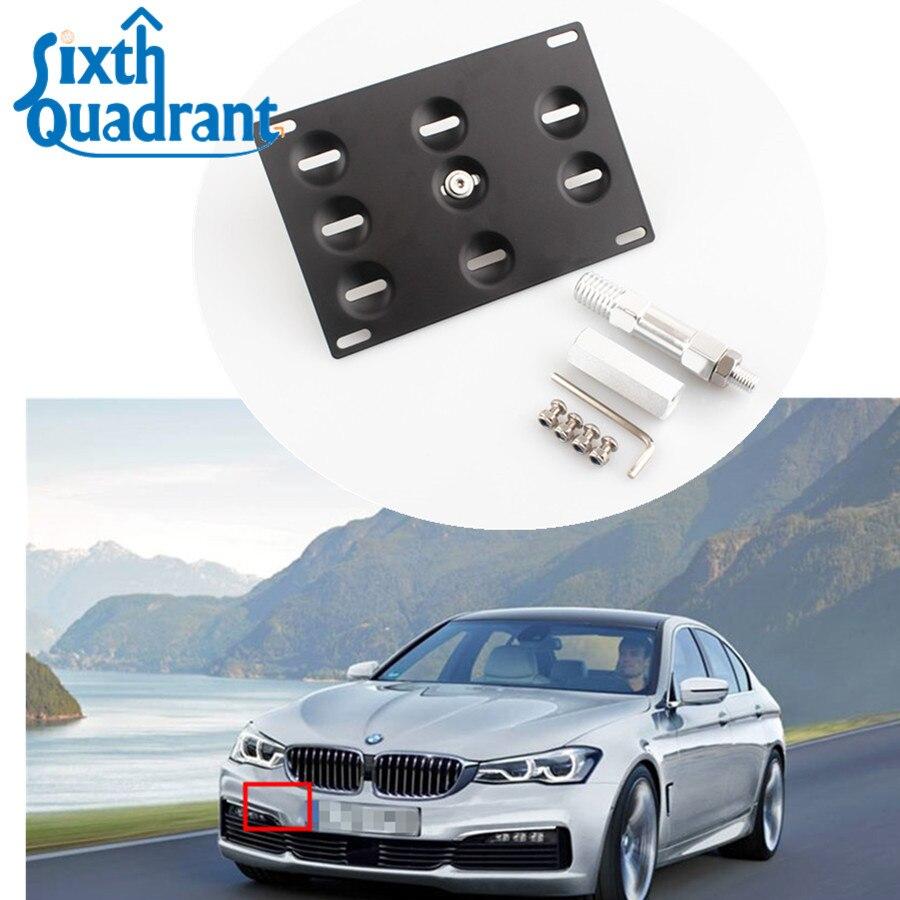 Audi SQ5 Black License Plate Frame with Caps PCR