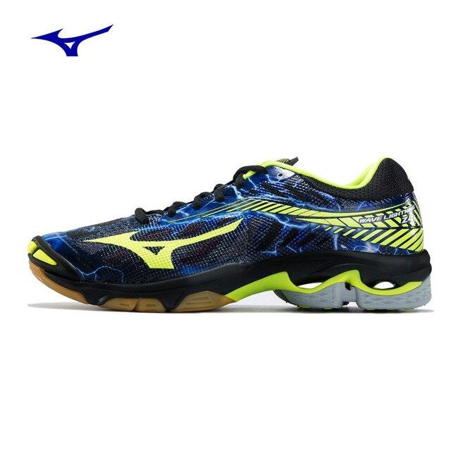 9dc7472152839 2018 new arrival Homens MIZUNO WAVE RELÂMPAGO Z4 Vôlei Sapatos Almofada  Estabilidade Confortável Calçados Esportivos Tênis