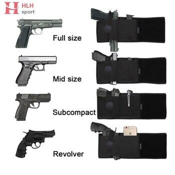 Дышащий мужской и женский ремень для живота, кобура для пистолета, скрытый пояс для переноски, кобуры для пояса Glock 1911 M92, пистолет для ручног...