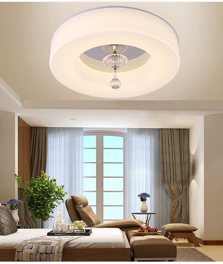 Simple Round LED Dimming Ceiling Lights Living Room Dining Room Dining Room  Balcony Corridor Remote Control Ceiling Lamps