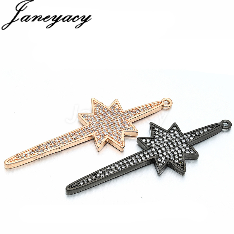 New Fashion Brass Cubic Zircon Pendant Accessories Jewelry DIY Bracelet Necklace Earring Connector Making Accessories Accesorios in Jewelry Findings Components from Jewelry Accessories