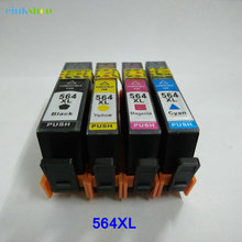 4 Pack Ink Cartridge For HP 564 With Level Chip For Printer Photosmart C6340 6520 7510 7515