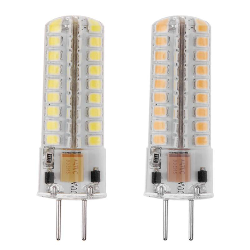 1pc Corn Bulb GY6.35 AC 12V 5W Dimmable Silicone SMD2835 72LED Corn Bulb for Chandelier Crystal Lamp Lighting Accessories 5w led gy6 35 silicone corn bulb 40w gy6 35 halogen replacement 110v g6 35 bi pin base led crystal ceiling light bulb