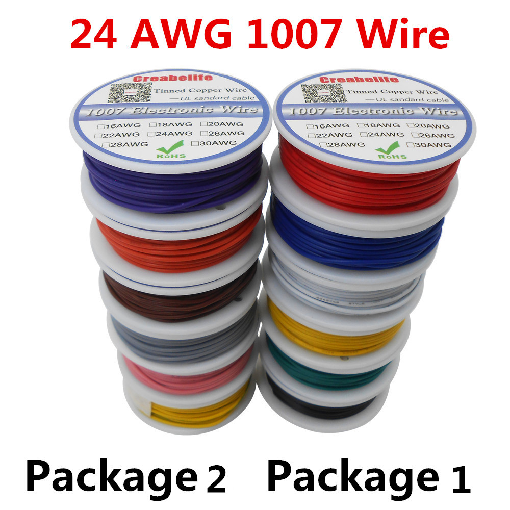 Prototyping Wire Spool Set 6 Colours 22AWG, 6 x 7.5m
