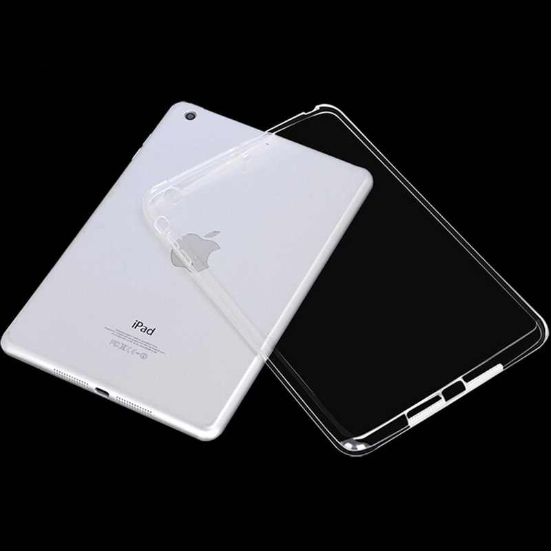 New Coque for iPad 2 iPad 3 iPad <font><b>4</b></font> Air <font><b>1</b></font> Air 2 mini 123 mini <font><b>4</b></font> Case Clear Transparent TPU Funda for iPad 234 Cover Soft image