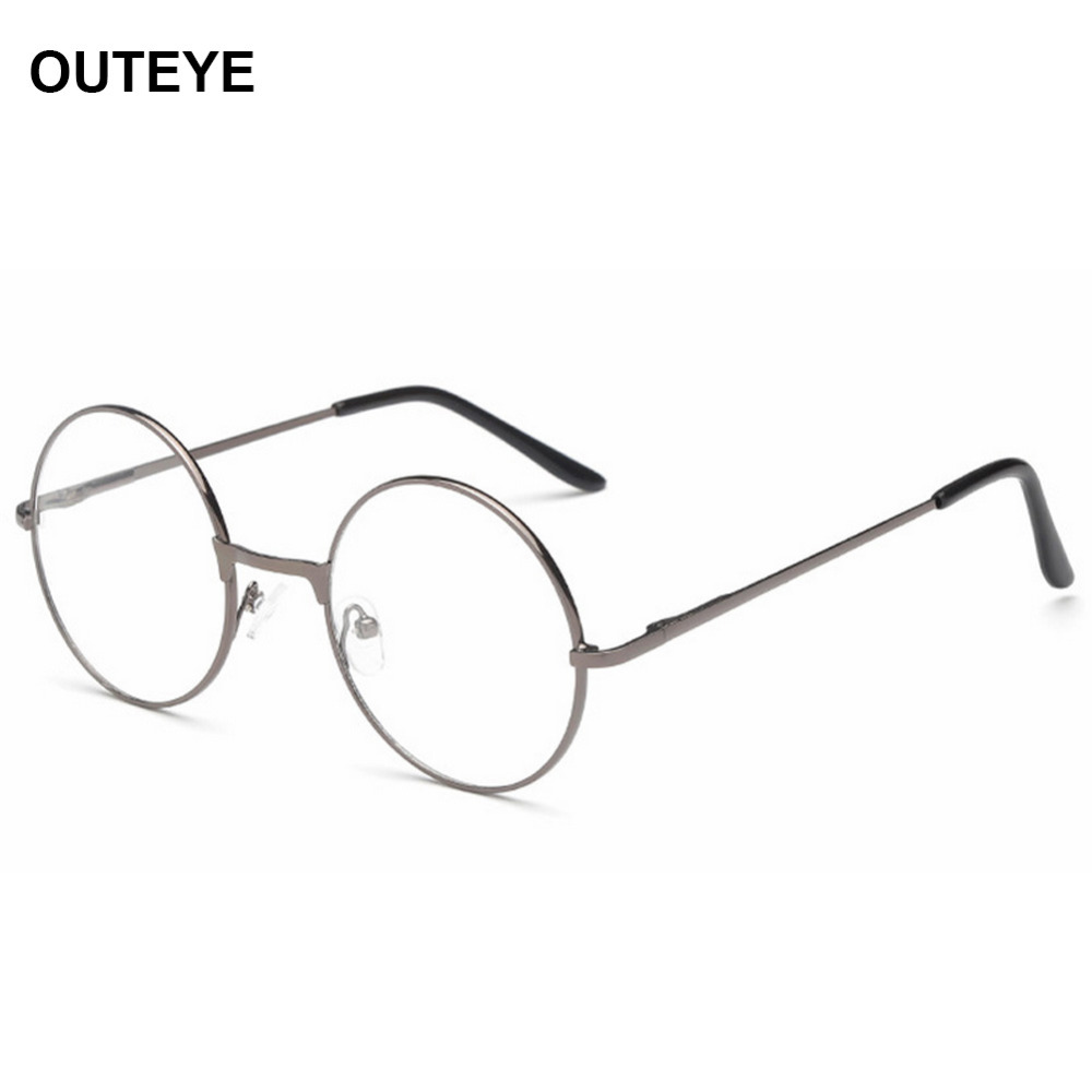 Glasses Frame Personality Quiz : Unisex Vintage Round Reading Glasses Metal Frame Retro ...