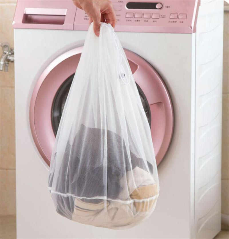 Grande Capacidade de Malha Underwear Bra Calcinhas Meias Suporte Máquina de lavar Roupa Lavandaria Saco Luandry Cordão Bolsa de S/M/L Sacos de lavagem
