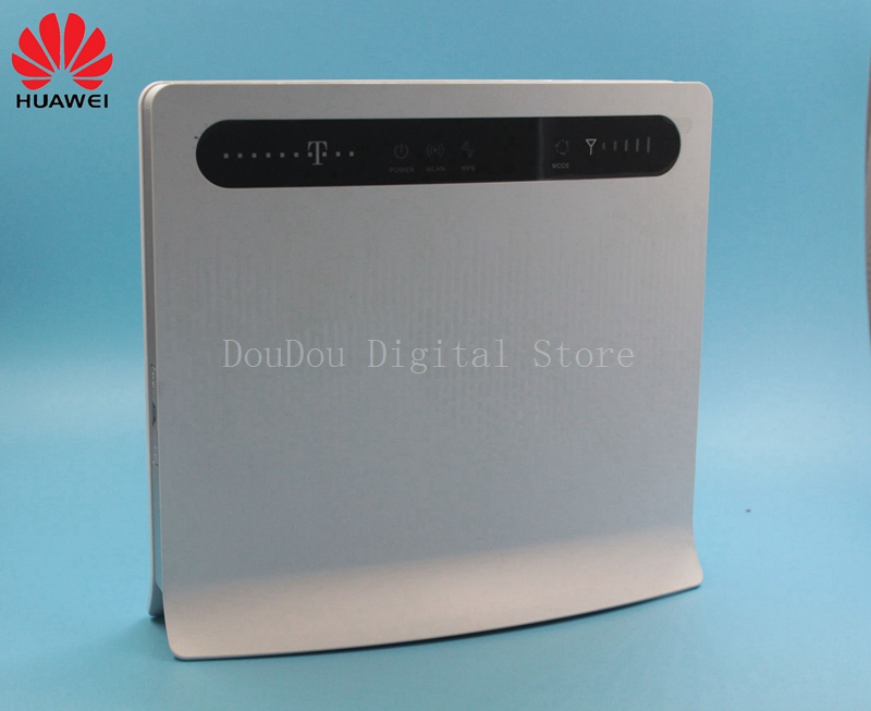 Unlocked Huawei B593 B593u-12 4G LTE 100Mbps CPE Router with Sim CardSlot 4G LTE WiFi Router with 4 Lan Port PKB310 original unlocked huawei b593 b593u 12 b2000 vodafone 4g lte cpe fdd 100mbps wifi wireless router lan ports rj45 port