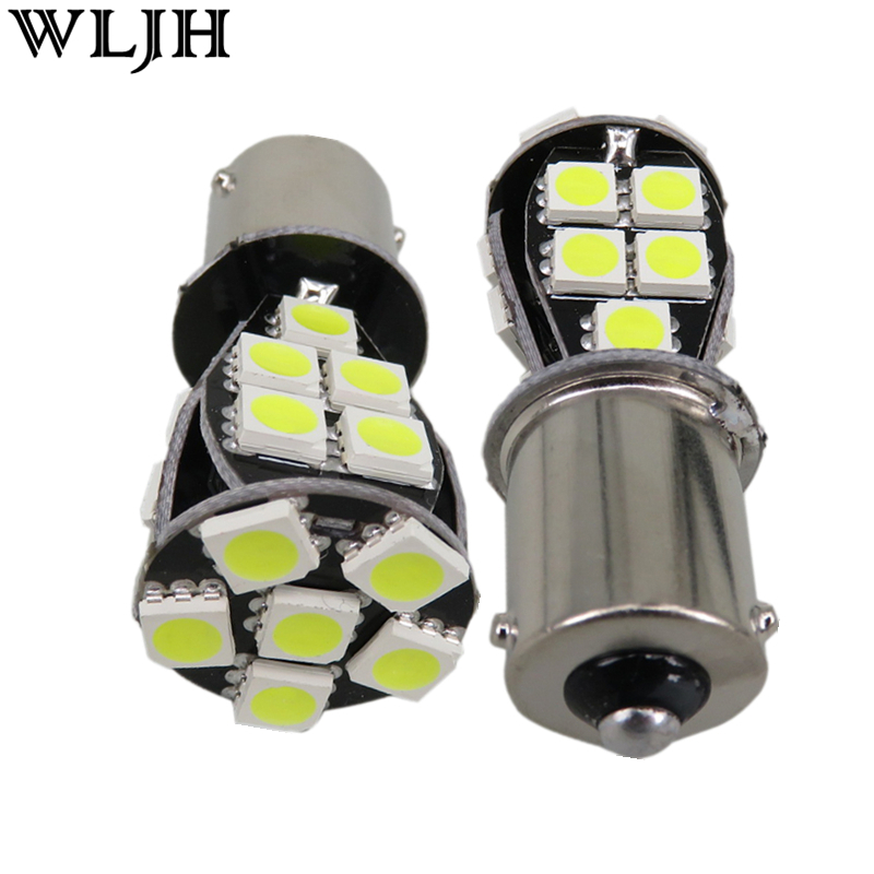 WLJH 2x Canbus Led PY21W 1156PY 7507 BAU15s 12v Lamp Car LED Front or - Car Lights