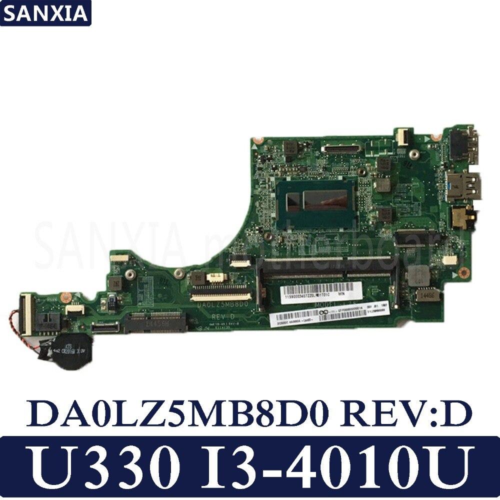 KEFU DA0LZ5MB8D0 REV:D Laptop motherboard for Lenovo IdeaPad U330 U330P U330T Test original mainboard I3-4010UKEFU DA0LZ5MB8D0 REV:D Laptop motherboard for Lenovo IdeaPad U330 U330P U330T Test original mainboard I3-4010U