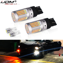 No Hyper Flash CANBUS Amber/White Dual Color T20 7443 LED Turn Signal Light Bulbs White T10 Parking Lights For Ford Mustang
