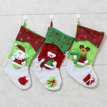 2016 New Long-legged Christmas Stocking Xmas Tree Decoration Ornaments Children Kids Gift Candy Bag Christmas Decoration Socks