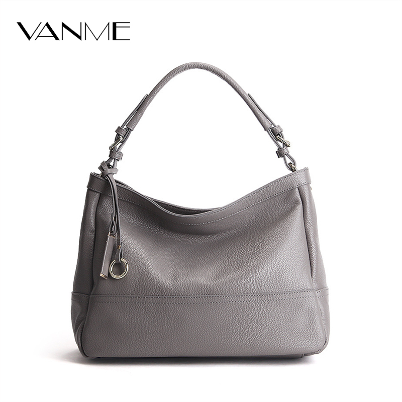 New Soft Genuine Leather Handbags Casual Large Capacity Famous Brand Shoulder Crossbody Tote Bags Retro Vintage Messenger Bag