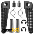 Black Front Footrests Foot pegs For Kawasaki Ninja ZX10R 2004 - 2013 ZX636 2003 - 2006 ZX6R 2003 - 2013 ZX9R 1998 - 2003 Z1000