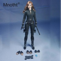 Mnotht SO T03 Toys 1/6 Scale Action Figure the Avengers Black Widow Clothes Set Suit Toys For 12in Action Figure Female Soldier