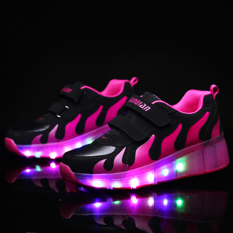 HOT 18 Style Children Wheel Shoes Kids Sneakers Sports Casual Roller Shoe Fashion With LED Gift For Boys & Girls