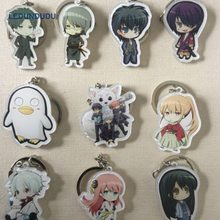 Gintama Sakata Gintoki Acrylic Keychains DATE A LIVE Pendants Cosplay Accessories Set Doma Umaru Keyring for Bag Phone Xmas Gift damir doma водолазки