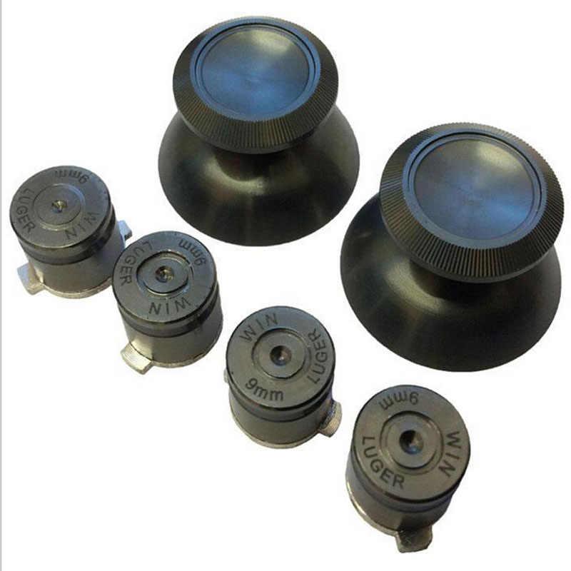 Metal 3d analógico joystick polegar vara apertos tampas + botões peças de reparo substituição para sony playstation dualshock 4 controlador ps4