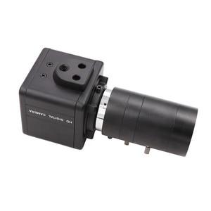 Image 3 - ชัตเตอร์ทั่วโลก 120fps 720P Monochrome สีดำสีขาว CS Mount Varifocal 6 60 มม.เว็บแคม UVC Plug Play USB กล้อง Mini Case