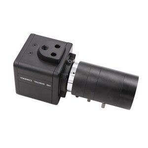 Image 3 - Global Shutter 120fps 720P Monochrome Schwarz Weiß CS Mount Vario 6 60mm Webcam UVC Stecker Spielen USB kamera mit Mini Fall