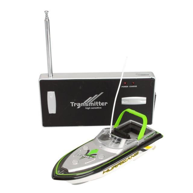 Verde Radio Estupendo Teledirigido Mini Speed Boat Dual Motor Kid Toy 218 RC barco
