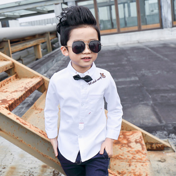 Children Boys Bow Shirts