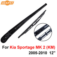 QEEPEI Rear Windscreen Wiper and Arm For Kia Sportage MK 2 (KM) 2005-2010 12'' 4 door SUV High Quality Iso9000 Natural Rubber(China)