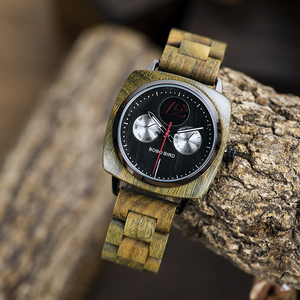 Image 2 - relogio masculino BOBO BIRD Men Watch Stylish Wooden Timepieces Mens Wrist Watches in Wood Gift Box erkek kol saati Accept LOGO