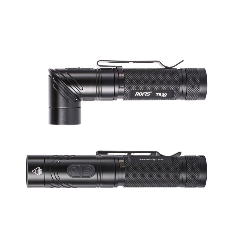 Rofis TR20 CREE XP-L HI V3 LED 1100 Lumens Rechargeable LED Flashlight with battery