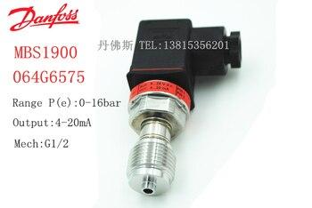Original authentic 100% new MBS1900 064G6575 Danfoss Pressure Transmitter 0-16bar 1/2 Sensor 1.6Mpa