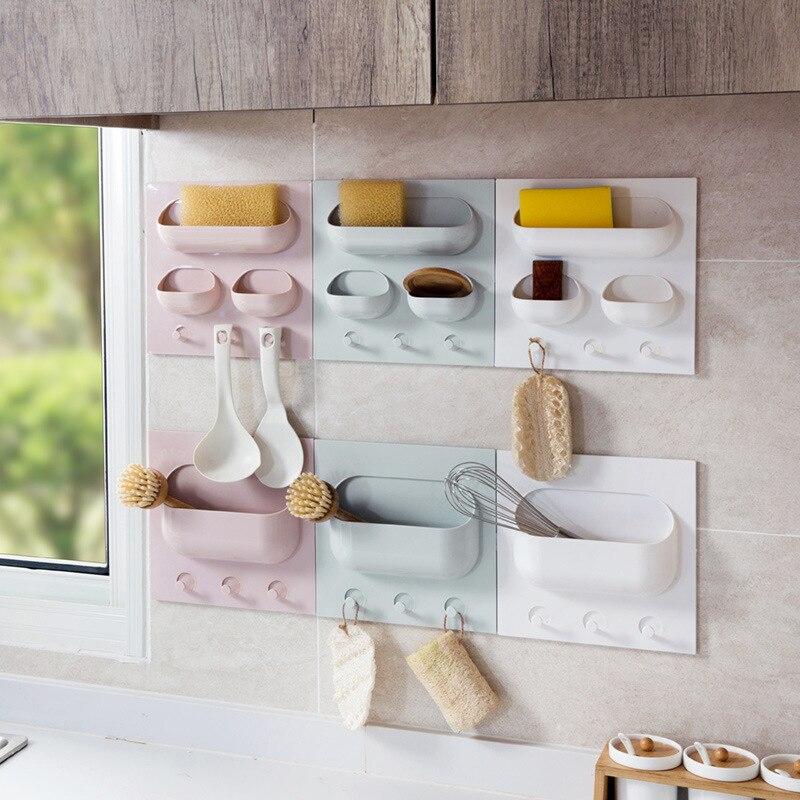 Kitchen traceless tape strong paste shelving kitchen bathroom plastic in Racks Holders from Home Garden