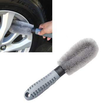 Car Cleaning Brush Wheel Rims Tire Washing Brush Auto Car Wash Tools for Volkswagen VW Jetta MK5 MK6 Polo Scirocco Lavida Eos image