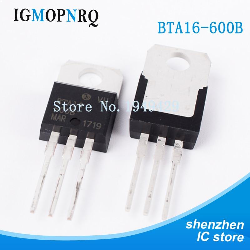 10PCS/lot BTA16-600B TO-220 BTA16-600 BTA16 Triac 16 Amp 600 Volt New Original